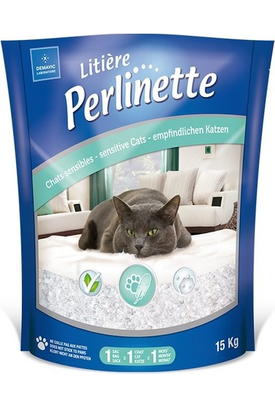 Perlinette Cat Adult Sensitive Hassas Kristal Kedi Kumu 15 kg