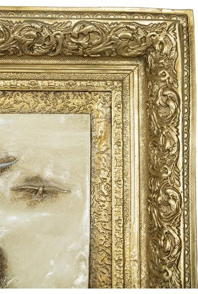 Luxury Uzun Sahil Dokulu Rölyef Tablo