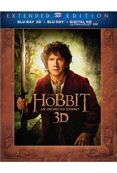 The Hobbit An Unexpected Journey Extented - Hobbit Beklenmedik Yolculuk - 3D + 2d - 5 Disk Bluray