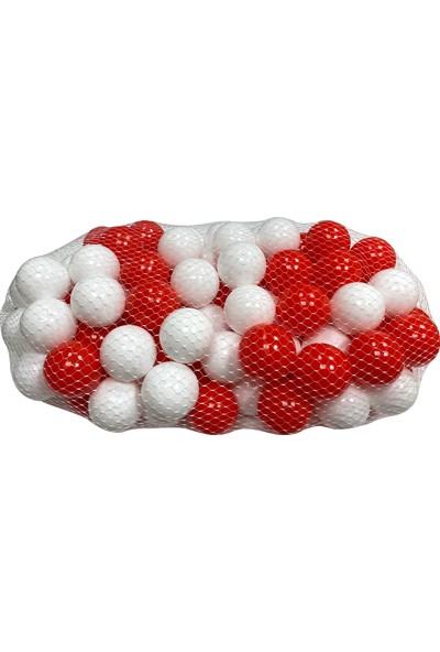 Jusso Jusso Havuz Topu 6cm 50LI - Kırmızı Beyaz