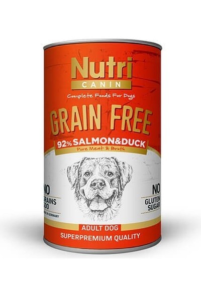 Nutri Canin Tahılsız Somon ve Ördekli Köpek Konservesi 400 gr