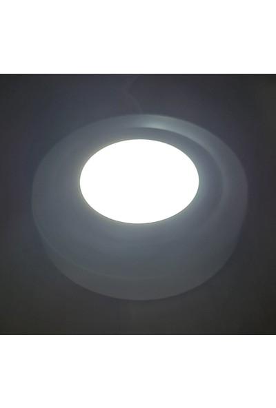 Çift Renkli 24 Watt (18+6) LED Panel Sıva Üstü Yuvarlak Spot Armatür 6500K Mavi-Kırmızı-Pembe