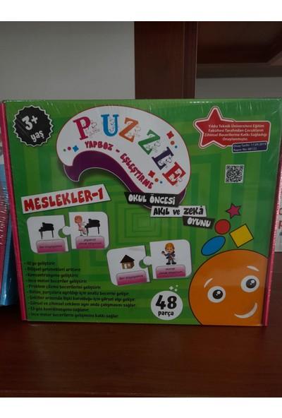 Beceri Dünyası Puzzle Yapboz-Eşleştirme Meslekler 1 - 48 Parça