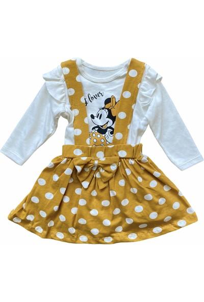 Baby Wood Hardal Puantiyeli Mickey Kız Bebek Ikili Takım
