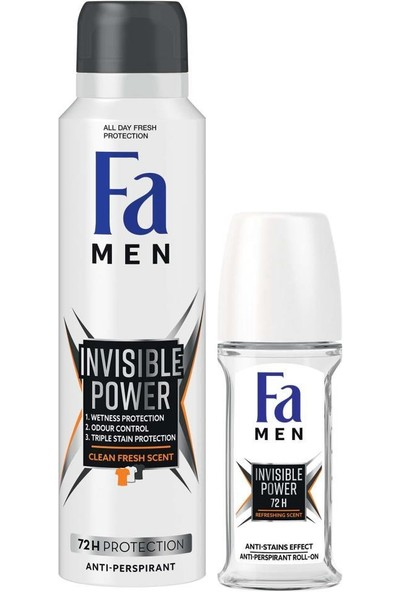 Men Invisible Power Roll-On 50 ml + Deosprey 150 ml