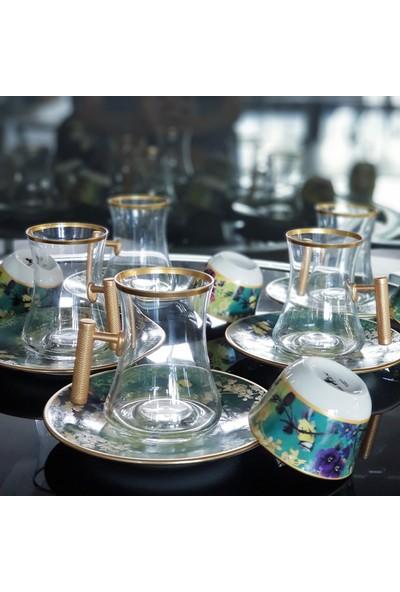 Le Atölye Vintage Çay ve Kahve Seti Yeşil