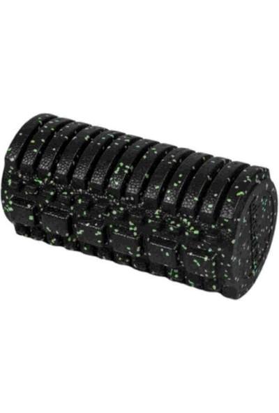 Actifoam Orta Sert Tırtıklı Masaj Rulosu Foam Roller Siyah+Yeşil