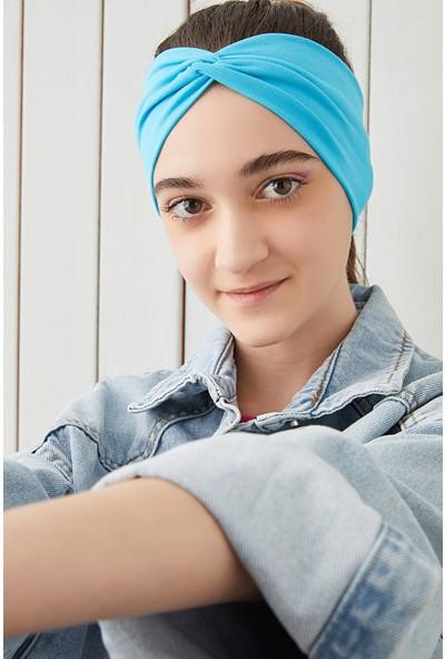 Babygiz Okyanus Mavi Çocuk Genç Bandana Saç Bandı Ekstra Yumuşak Esnek Doğal %100 Pamuklu Penye