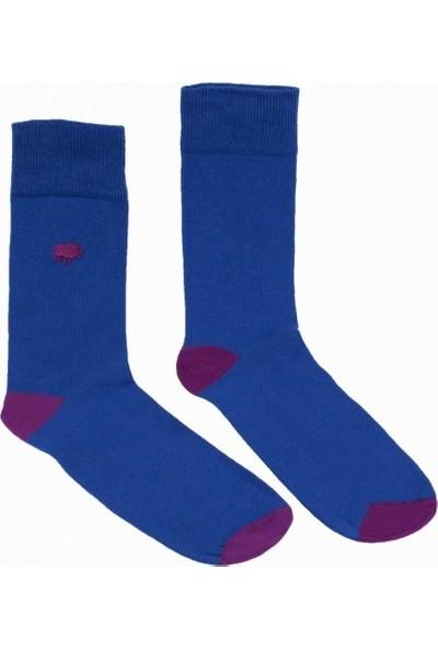 Cream Gergedan Figürlü Erkek Soket Çorap 40-45 BC3070MV