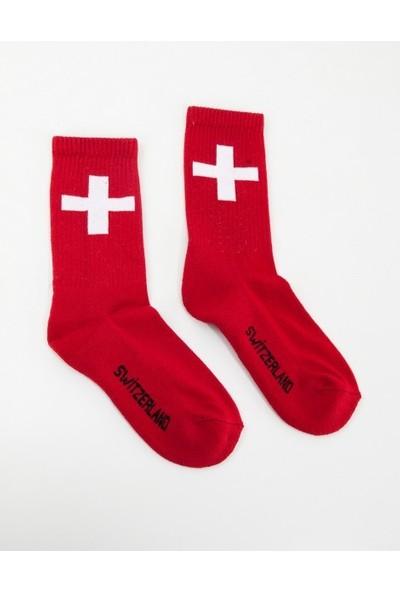 Kifidis Switzerland Spor Çorap 36-44 SC1039KZ