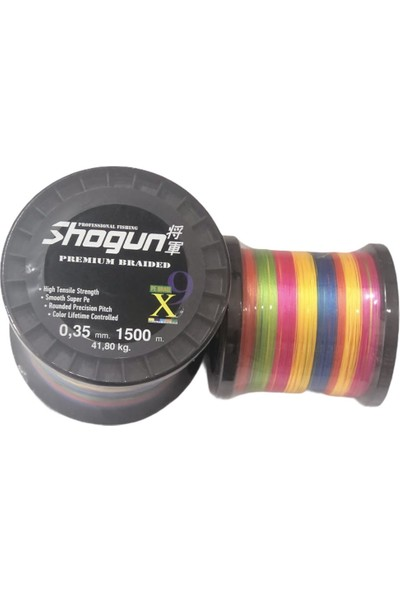 Shogun 1500MT 9x Braid Ip Misina 0,20MM Multicolour