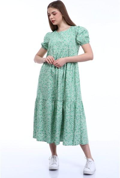 Yare Y-50012 Y Çiçekli Poplin Elbise