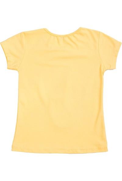 Whoops Nanu Sarı Kız Çocuk Deniz Kızı Çift Taraflı Pullu Tişört