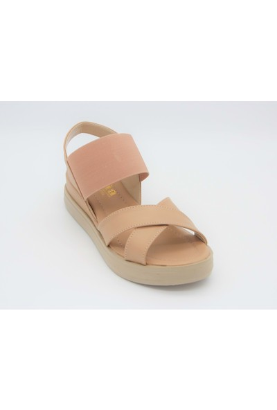 Scarletta 34463 Kadın Lastikli Sandalet - Pudra