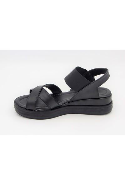 Scarletta 34463 Kadın Lastikli Sandalet - Siyah