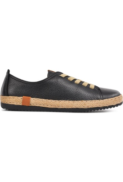 Free Foot 110 Siyah Hakiki Deri Kadın Günlük Ayakkabı