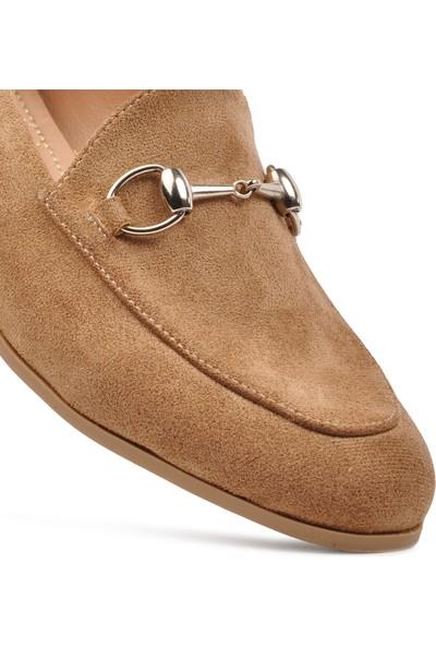 Park Fancy 90 Kahve Hafif Kadın Loafer Ayakkabı