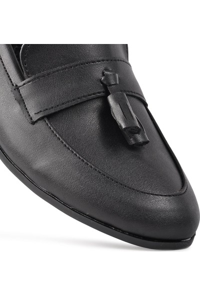 Park Fancy 91 Siyah Hafif Kadın Loafer Ayakkabı