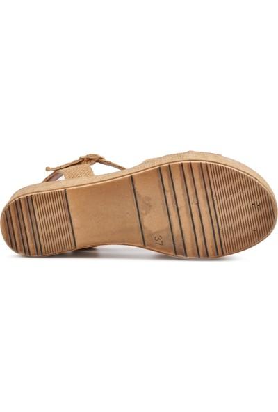 Park Fancy 702 Hasır Kadın Dolgu Topuk Sandalet