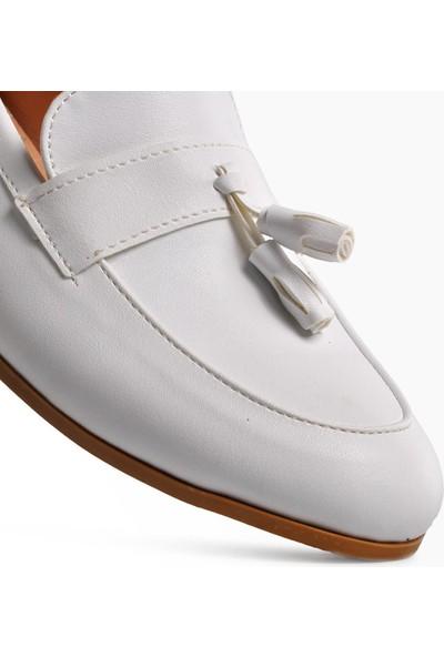Park Fancy 91 Beyaz Hafif Kadın Loafer Ayakkabı