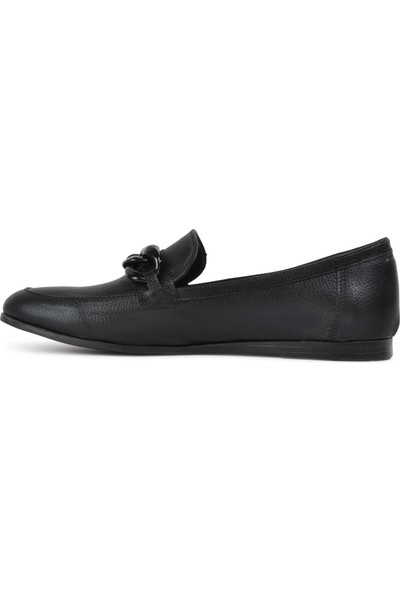 Park Fancy 92 Siyah Hafif Kadın Loafer Ayakkabı