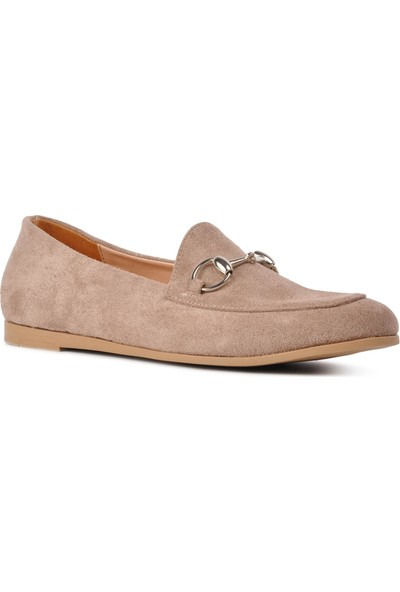Park Fancy 90 Vizon Nubuk Kadın Laofer Ayakkabı