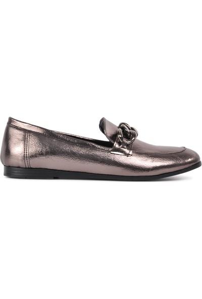 Park Fancy 92 Platin Hafif Kadın Loafer Ayakkabı