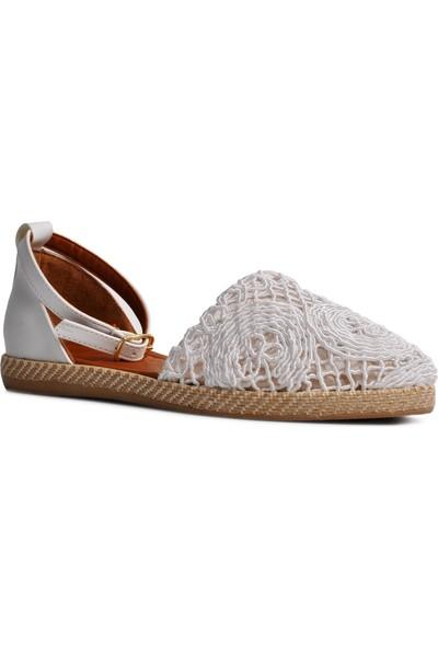 Park Fancy 600 Beyaz Kadın Sandalet
