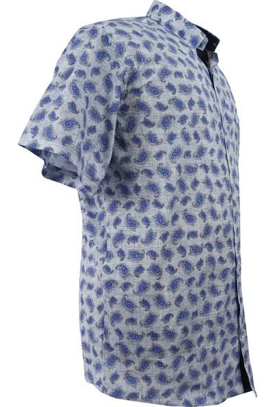 Bettino Büyük Beden Battal Boy Erkek Gömlek Pamuklu Kısa Kol