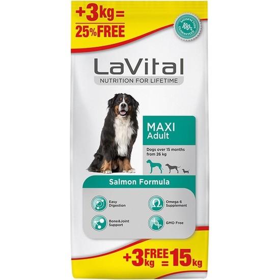 La Vital Lavital Büyük Irk Somonlu Yetişkin Köpek Maması 12+3 kg