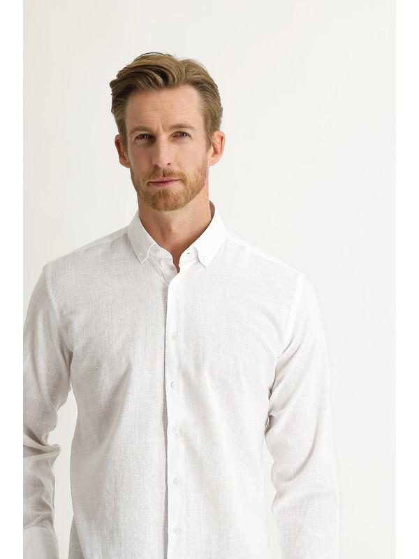 Kiğılı Uzun Kol Relax Fit Gömlek