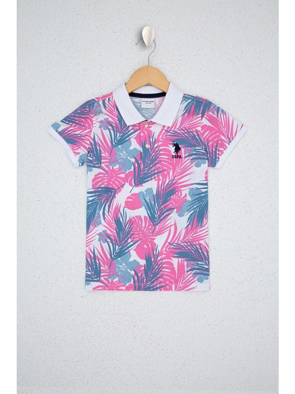 U.S. Polo Assn. Pembe T-Shirt 50219026-VR041
