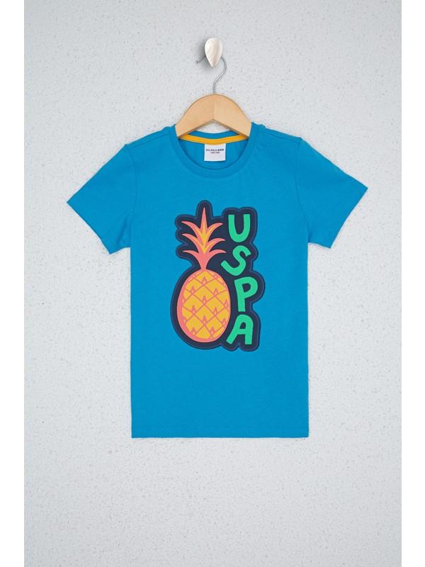 U.S. Polo Assn. Mavi T-Shirt 50238407-VR077