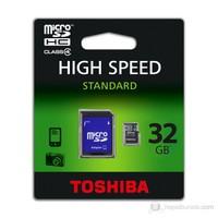 Toshiba 32GB Class 4 Micro SDHC Hafıza Kartı + Adaptor