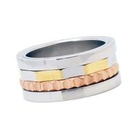 Chavin Çift Renk Ortası Dönen Çelik Yüzük 9ad801