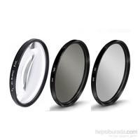 Beta Canon 18-55Mm Lens İçin Uv + Cpl Polarize + Close Up +10 Macro Filtre