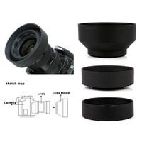 Nikon 18-55Mm Lens İçin 3 Kademeli Ayarlanabilir Kauçuk Parasoley