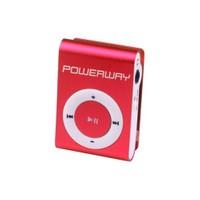 Powerway DRN-X08 4GB MP3 Player - Kırmızı