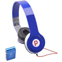 Powerway DRN-X08 4GB Mp3 Çalar + Powerdreams Kulaküstü Kulaklık - Mavi