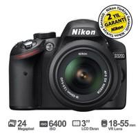 "Nikon D3200 18-55mm VR Kit 24 MP 3"" LCD Dijital SLR Fotoğraf Makinesi"