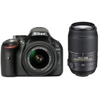 Nikon D5200 18-55mm VR II + 55-300mm VR Kit Dijital SLR Fotoğraf Makinesi