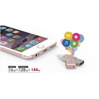PQI iConnect 16GB mini USB 3.0 iPhone/iPad/iPod Gold USB Bellek