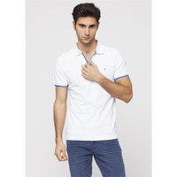 Adze Beyaz Erkek Polo Yaka T-Shirt