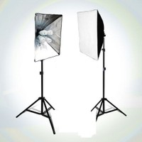 Fancier Fan 639 65W Spiral 2X4 Set Sürekli Video Işık 40X40 Softbox