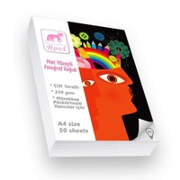 Rovi Fine-Art Mat Çift Taraflı Fotoğraf Kağıdı - 220Gsm - 50Yp - A4