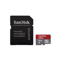 Sandisk Ultra Android microSDHC 8GB + SD Adapter 48MB/s Class 10 Hafıza Kartı SDSDQUAN-008G-G4A