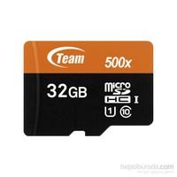 Team 32GB MicroSD 80MB/s Class 10 Hafıza Kartı + Sd Adaptör (TMMSD32GCUHS)