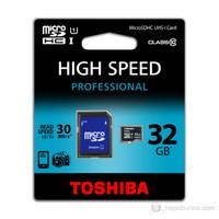 Toshiba 32GB UHS-1 Class-10 Profesyonel Micro SD Hafıza Kartı