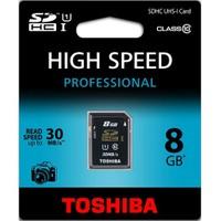 Toshiba 8GB SDHC UHS1 Class-10 (30MB/sn)