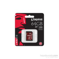 Kingston 64GB SDXC Class 10 UHS-I U3 Hafıza Kartı SDA3/64GB